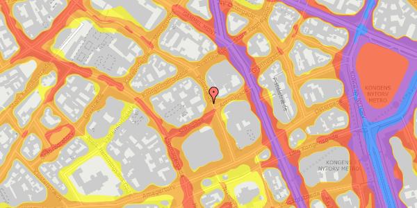 Trafikstøjkort på Pilestræde 19, st. , 1112 København K
