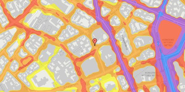 Trafikstøjkort på Pilestræde 21, 1. 2, 1112 København K
