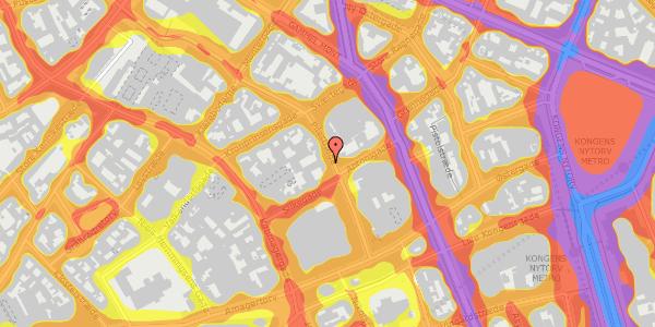 Trafikstøjkort på Pilestræde 21, 1. 4, 1112 København K