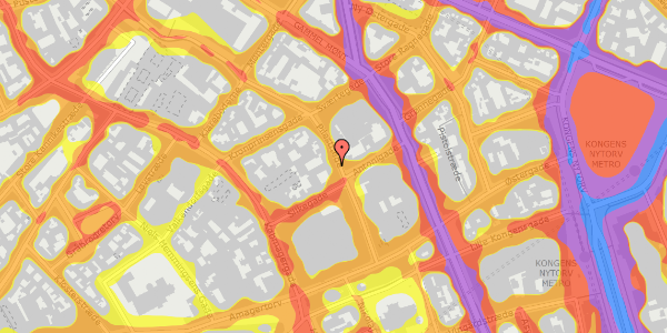 Trafikstøjkort på Pilestræde 21, 3. 2, 1112 København K