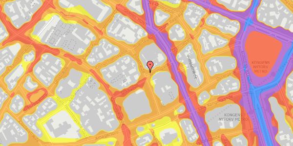 Trafikstøjkort på Pilestræde 26, 2. tv, 1112 København K