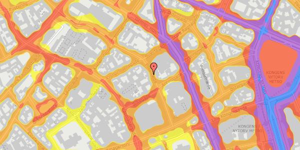 Trafikstøjkort på Pilestræde 27, 3. , 1112 København K