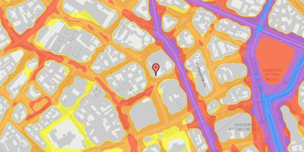 Trafikstøjkort på Pilestræde 28, kl. , 1112 København K
