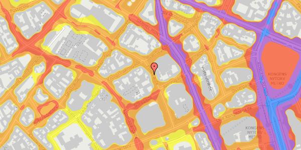 Trafikstøjkort på Pilestræde 29, 1. tv, 1112 København K