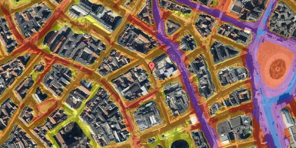 Trafikstøjkort på Pilestræde 29, 2. tv, 1112 København K