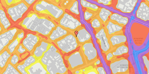Trafikstøjkort på Pilestræde 33, 1. , 1112 København K