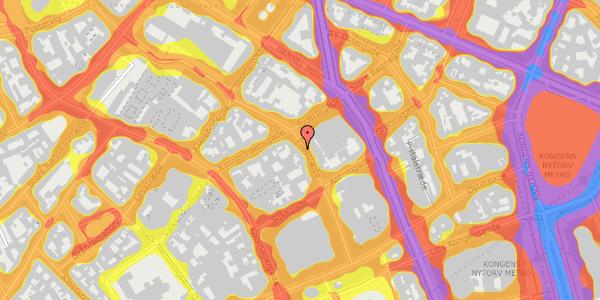 Trafikstøjkort på Pilestræde 33, 4. , 1112 København K