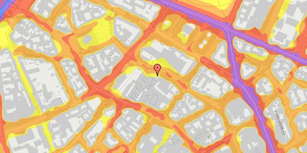 Trafikstøjkort på Pilestræde 63, 1112 København K
