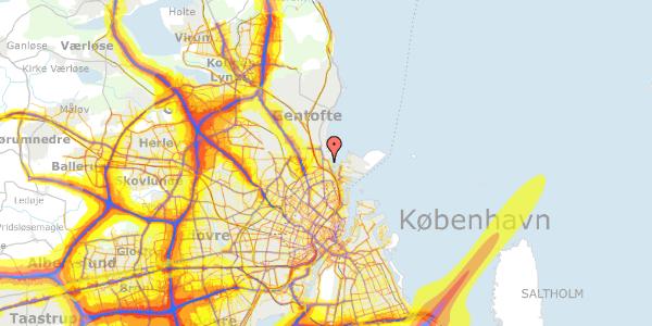 Trafikstøjkort på Solvænget 11, 2100 København Ø