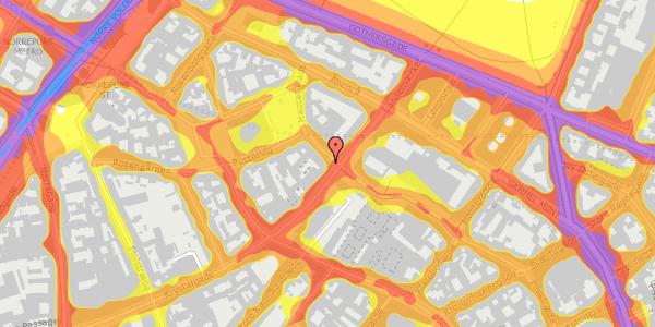 Trafikstøjkort på Suhmsgade 1, kl. , 1125 København K
