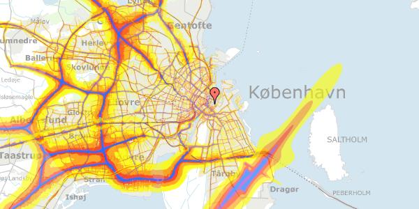 Trafikstøjkort på Tordenskjoldsgade 27, 3. tv, 1055 København K