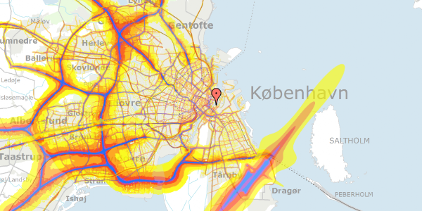 Trafikstøjkort på Tordenskjoldsgade 31, 3. tv, 1055 København K