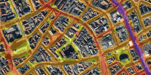 Trafikstøjkort på Valkendorfsgade 13, st. 1, 1151 København K