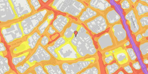 Trafikstøjkort på Valkendorfsgade 13, 2. , 1151 København K
