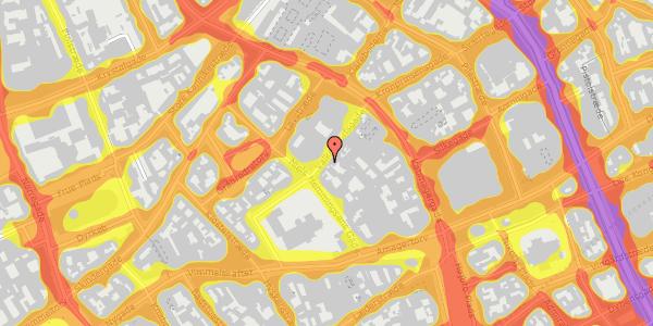Trafikstøjkort på Valkendorfsgade 15, 1. , 1151 København K