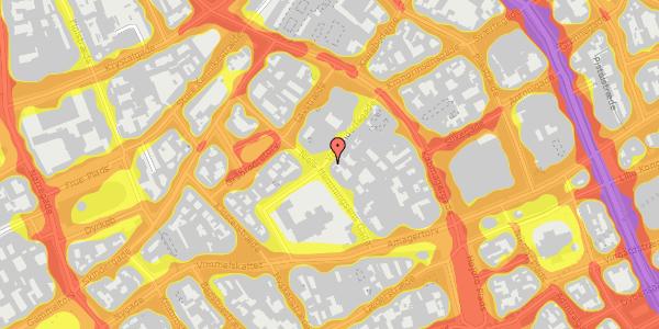 Trafikstøjkort på Valkendorfsgade 19, 2. , 1151 København K
