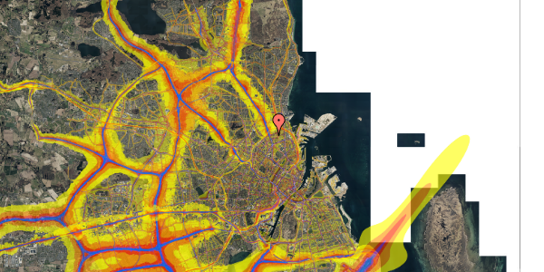 Trafikstøjkort på Venøgade 5, st. th, 2100 København Ø