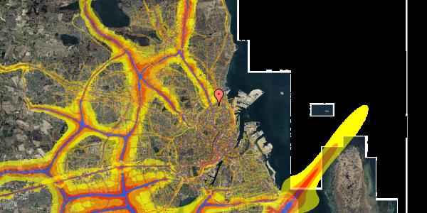 Trafikstøjkort på Venøgade 11, 2. th, 2100 København Ø