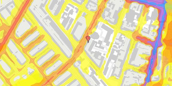 Trafikstøjkort på Vibevej 33, 3. th, 2400 København NV