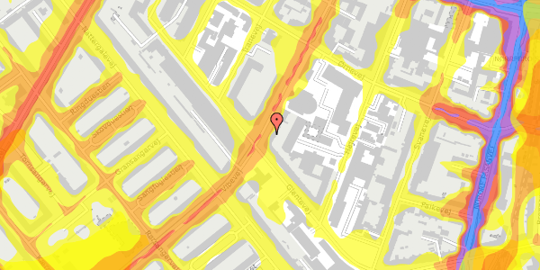 Trafikstøjkort på Vibevej 35, 2. tv, 2400 København NV