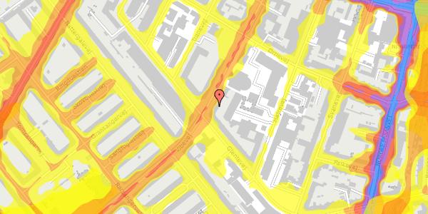 Trafikstøjkort på Vibevej 35, 3. tv, 2400 København NV