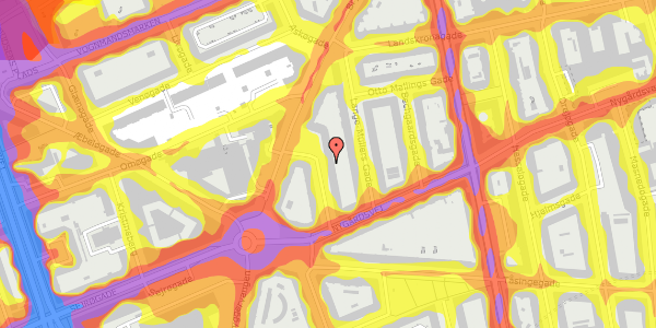 Trafikstøjkort på Victor Bendix Gade 10, st. tv, 2100 København Ø