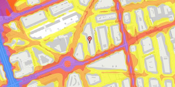 Trafikstøjkort på Victor Bendix Gade 10, 2. th, 2100 København Ø