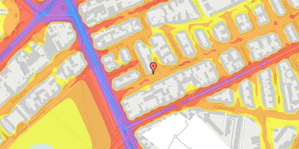 Trafikstøjkort på Willemoesgade 9, kl. , 2100 København Ø