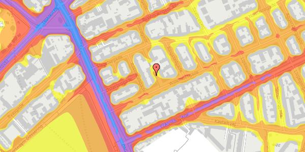Trafikstøjkort på Willemoesgade 13, kl. , 2100 København Ø