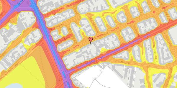 Trafikstøjkort på Willemoesgade 16, 2. th, 2100 København Ø