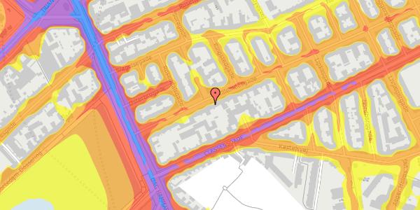 Trafikstøjkort på Willemoesgade 16, 2. tv, 2100 København Ø