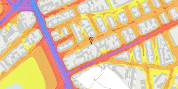 Trafikstøjkort på Willemoesgade 16, 3. th, 2100 København Ø