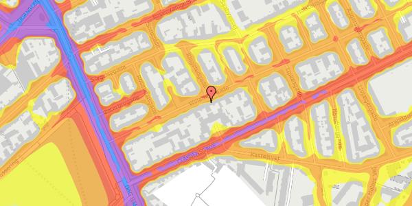 Trafikstøjkort på Willemoesgade 22, 3. th, 2100 København Ø