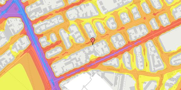Trafikstøjkort på Willemoesgade 24, 1. tv, 2100 København Ø