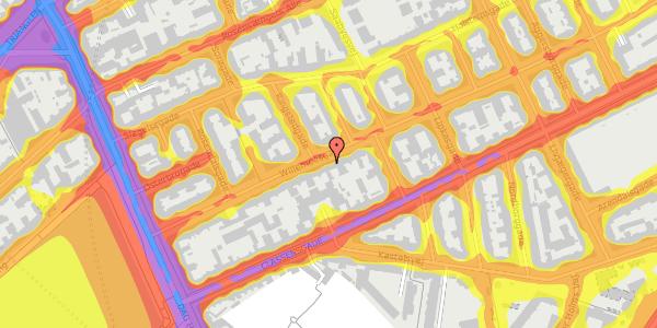 Trafikstøjkort på Willemoesgade 26, 3. th, 2100 København Ø