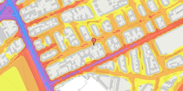 Trafikstøjkort på Willemoesgade 28, 3. tv, 2100 København Ø