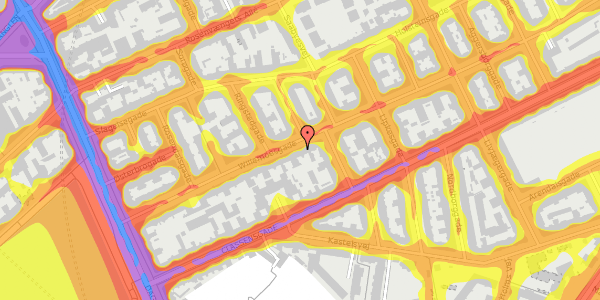 Trafikstøjkort på Willemoesgade 30, 4. th, 2100 København Ø