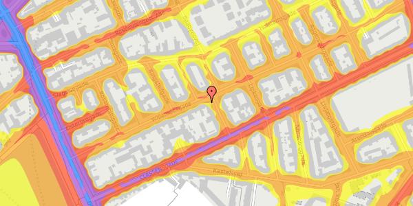 Trafikstøjkort på Willemoesgade 34, 1. th, 2100 København Ø