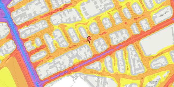 Trafikstøjkort på Willemoesgade 34, 3. th, 2100 København Ø