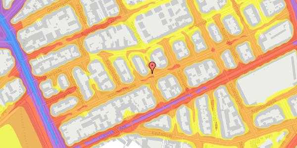 Trafikstøjkort på Willemoesgade 37, 3. tv, 2100 København Ø