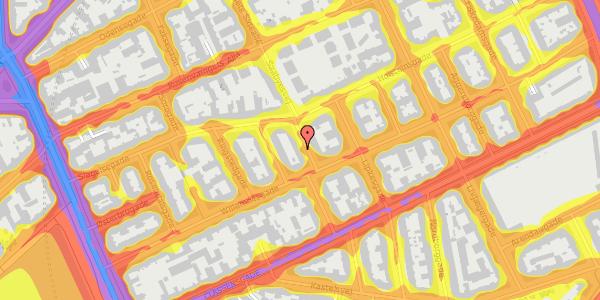 Trafikstøjkort på Willemoesgade 39, 3. th, 2100 København Ø