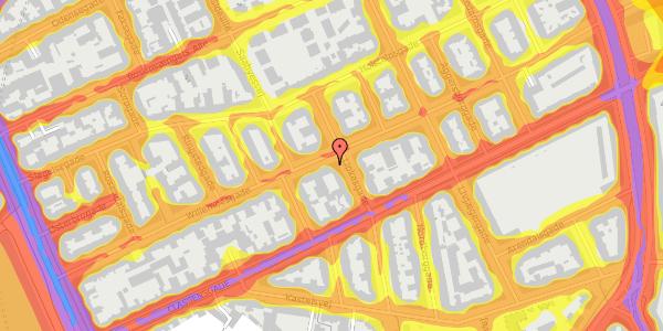 Trafikstøjkort på Willemoesgade 48, st. tv, 2100 København Ø