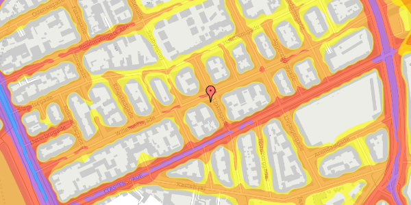 Trafikstøjkort på Willemoesgade 48, 4. th, 2100 København Ø