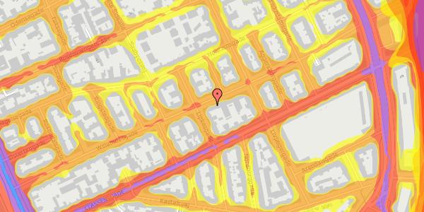 Trafikstøjkort på Willemoesgade 52, 2. tv, 2100 København Ø