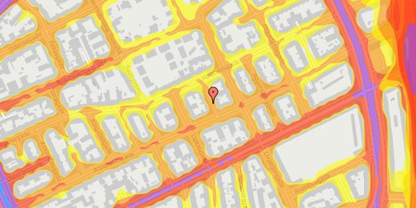 Trafikstøjkort på Willemoesgade 57, 4. , 2100 København Ø