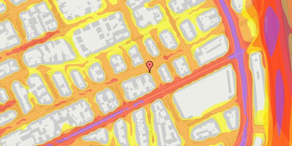 Trafikstøjkort på Willemoesgade 58, 2. mf, 2100 København Ø