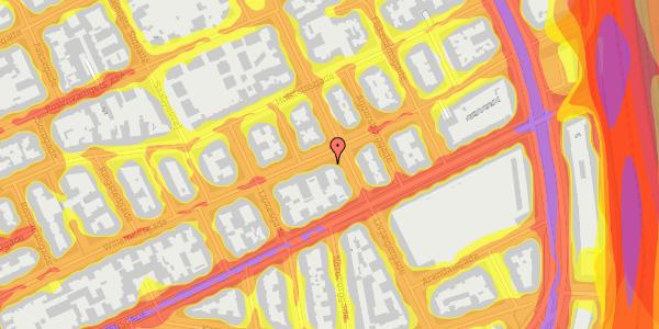 Trafikstøjkort på Willemoesgade 58, 4. mf, 2100 København Ø