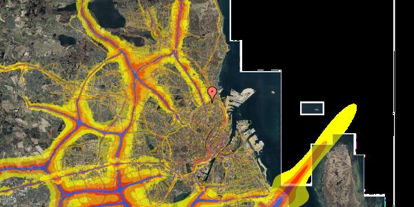 Trafikstøjkort på Vognmandsmarken 41, 4. th, 2100 København Ø