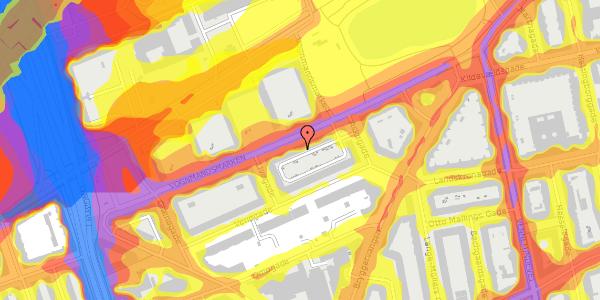 Trafikstøjkort på Vognmandsmarken 62, 4. th, 2100 København Ø