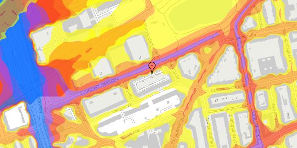 Trafikstøjkort på Vognmandsmarken 64, 3. th, 2100 København Ø